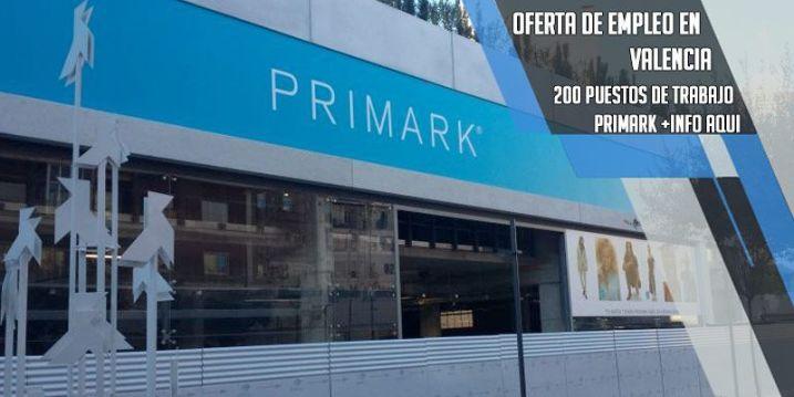 oferta de empleo Primark Valencia
