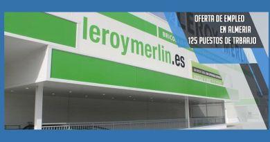 Leroy Merlin ofertará 125 empleo en Almería