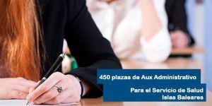 450 plazas de Auxiliar Administrativo para el Servicio de Salud de las Islas Baleares