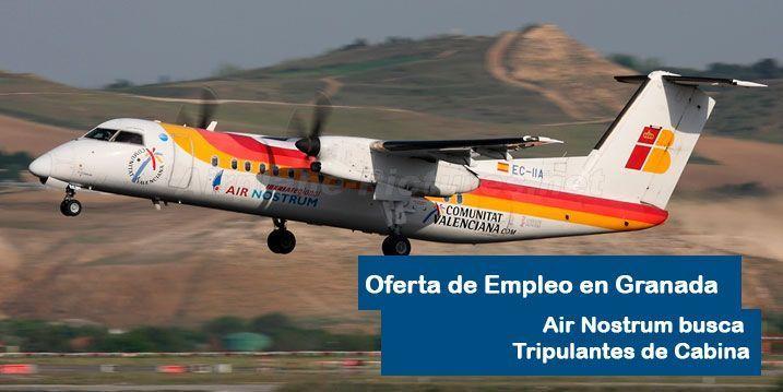 Air Nostrum contratará personal de cabina en Granada