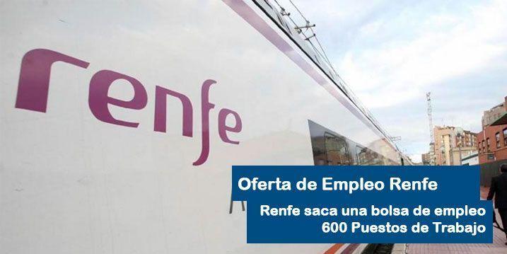 Oferta de Empleo Renfe operadores y maquinistas