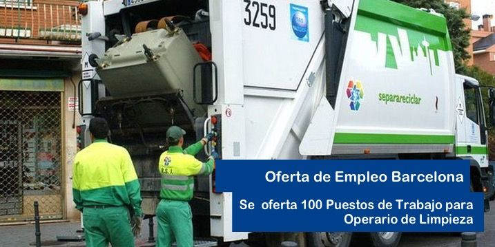100 empleo para trabajar como operario de limpieza
