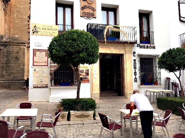 Mesón El Sacristán, en Ronda, Málaga.
