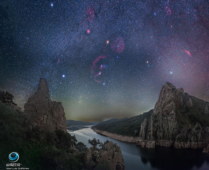 cielo nocturno de monfragüe