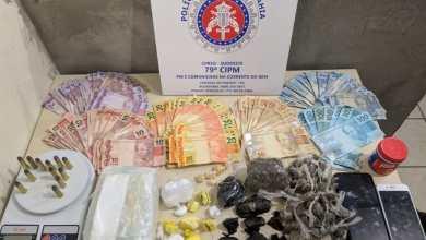 """Photo of """"Gerente do tráfico"""" e outros dois homens são presos com drogas próximo a Conquista"""
