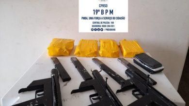 Photo of Polícia militar localiza drogas e submetralhadoras em esconderijo próximo a Jequié; dois homens foram presos