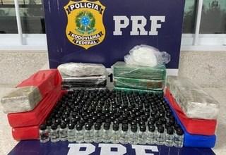 Photo of Mulher é presa transportando maconha, cocaína e centenas de frascos de lança-perfume dentro de ônibus em Conquista