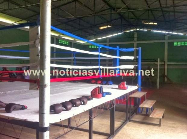 Ring de boxeo de la escuela de combate Elio Ramón Rojas de Villa Riva