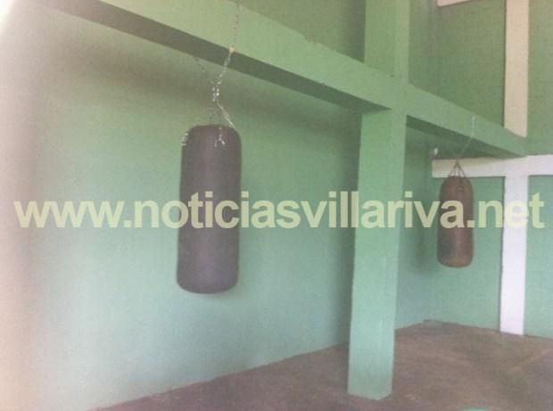 Sambá de boxeo de la escuela de combate Elio Ramón Rojas de Villa Riva
