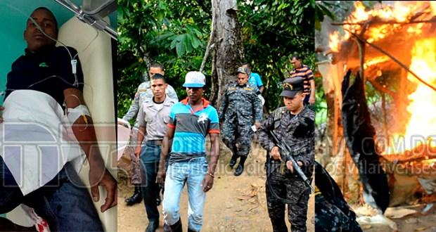 policia-quema-punto-de-drogas-en-las-taranas