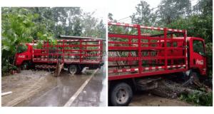 Resultado de imagen para camion de coca cola choca con poste electrico