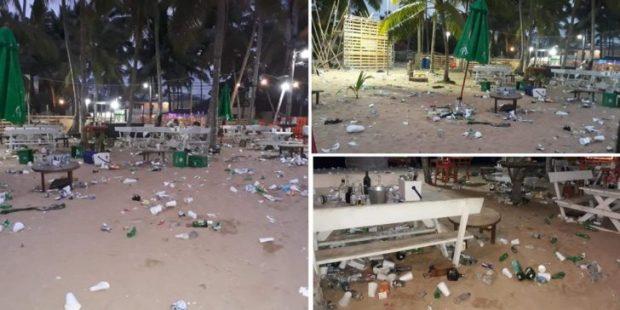 Comunitarios de Las Terrenas condenan cúmulos de basuras dejados por vacacionistas en la playa