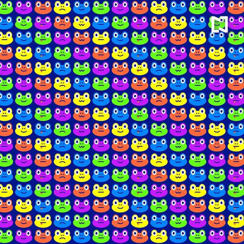 Reto visual ojos de rana diferentes
