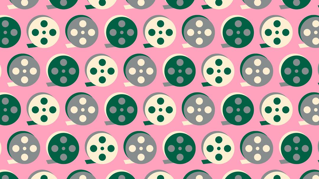 Reto visual: encuentra los rollos de película en sentido contrario, ilustración