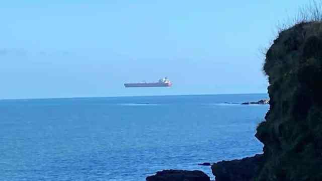 barco volador, espejismo, ilusión óptica