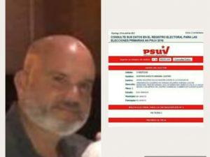 GustavoMirabalCastro milita en el PSUV