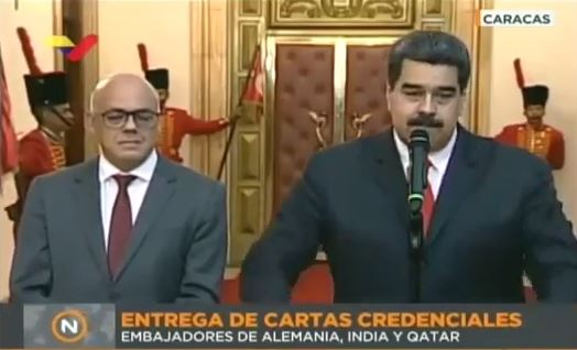 Maduro y Jorge Rodriguez