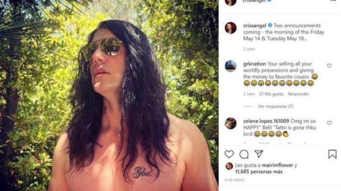 NotiGAPE - Criss Angel se borra el tatuaje de Belinda