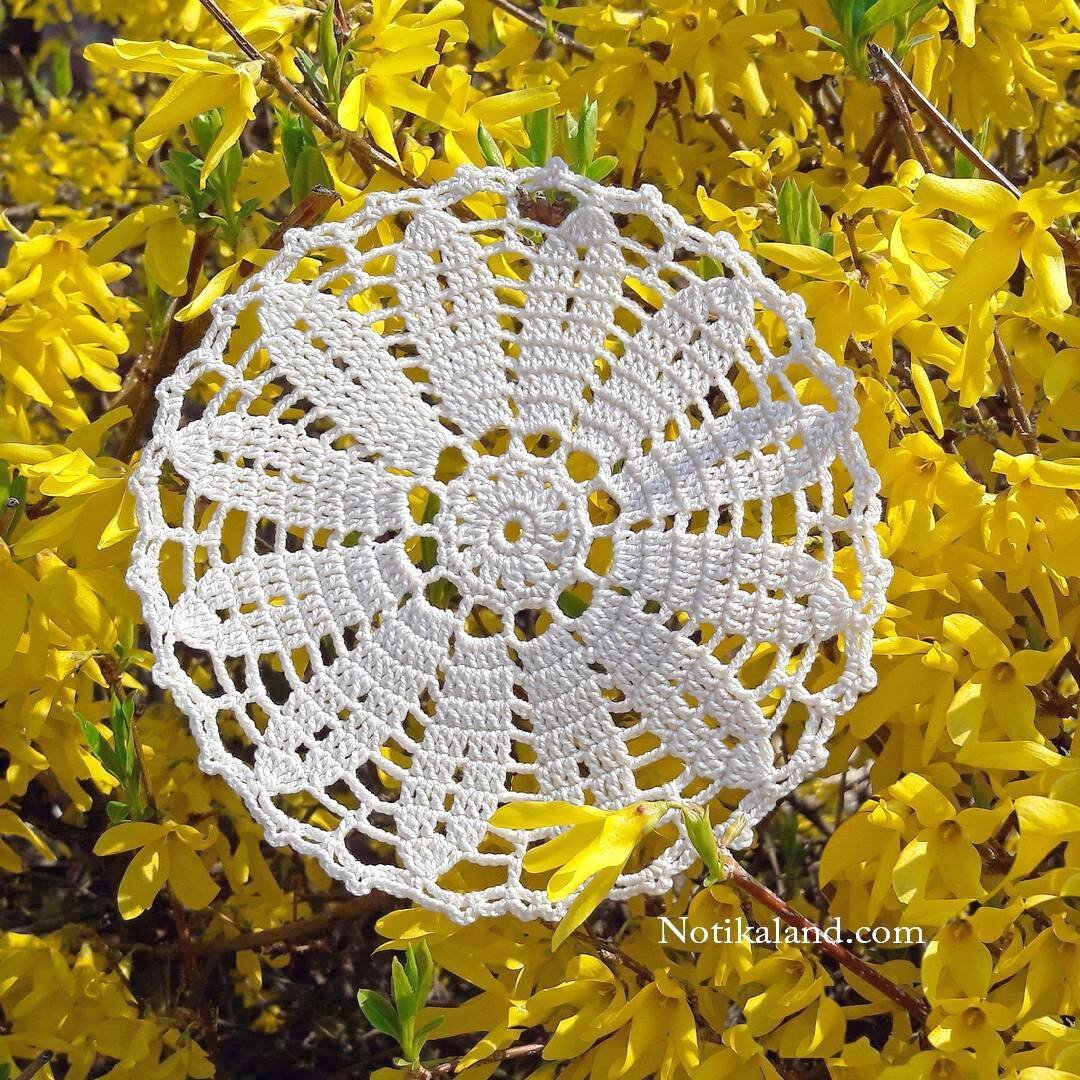 crochet doily patterns with diagram chain template notikaland main page