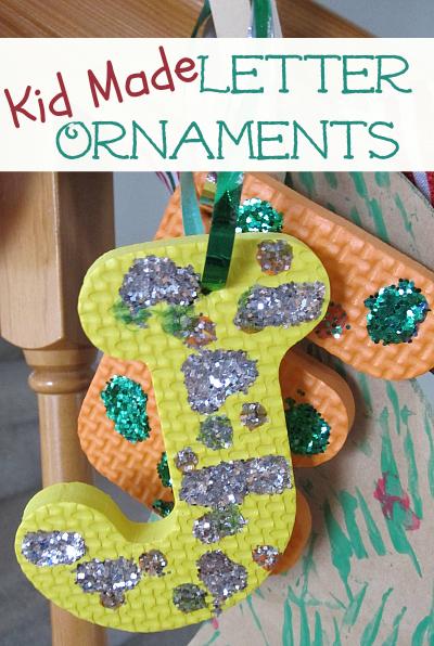 Letter Ornaments Easy Alphabet Monogram Ornaments For Kids