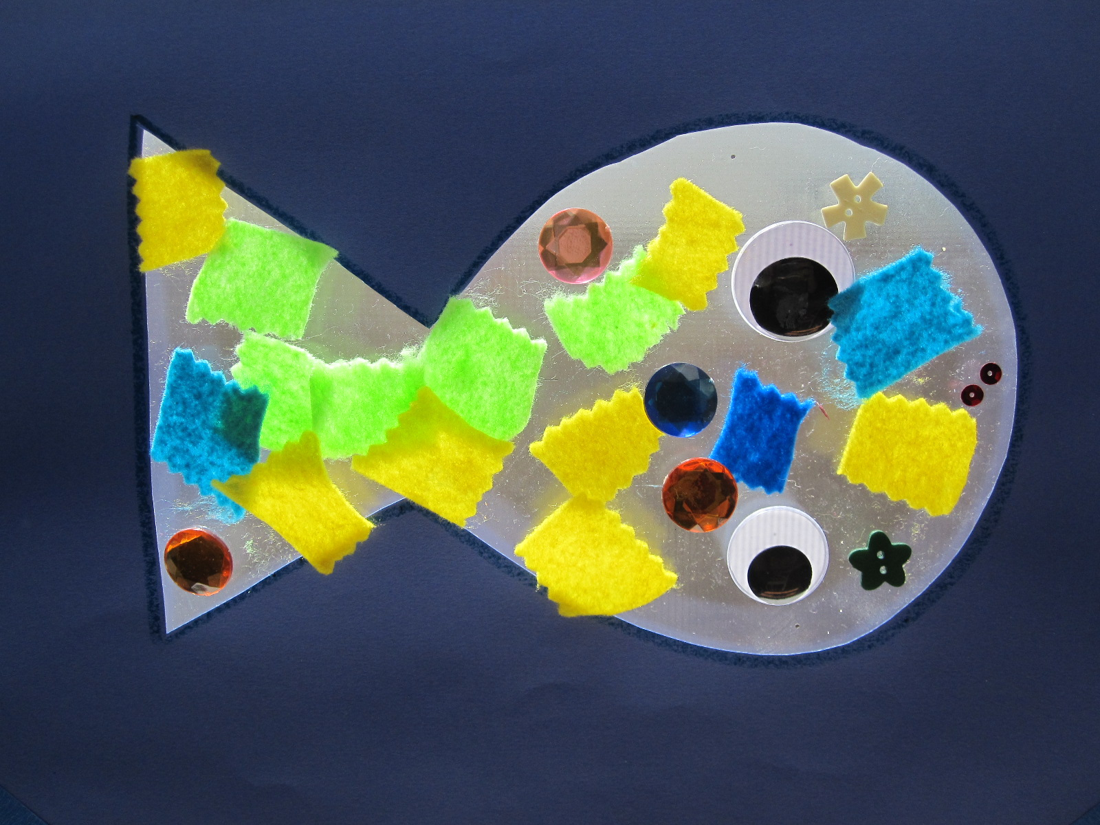Easy Fish Sun Catcher Craft