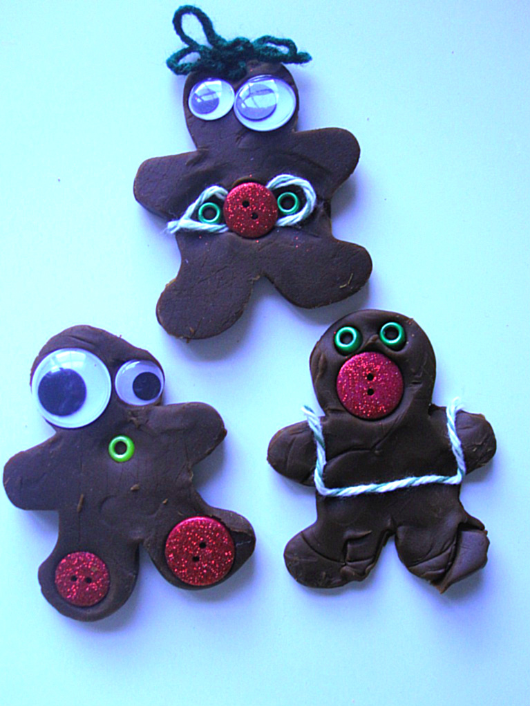 Gingerbread People Playdough Play No Time For Flash Cards