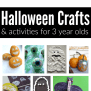 Easy Halloween Crafts And Activities For 3 Year Olds No