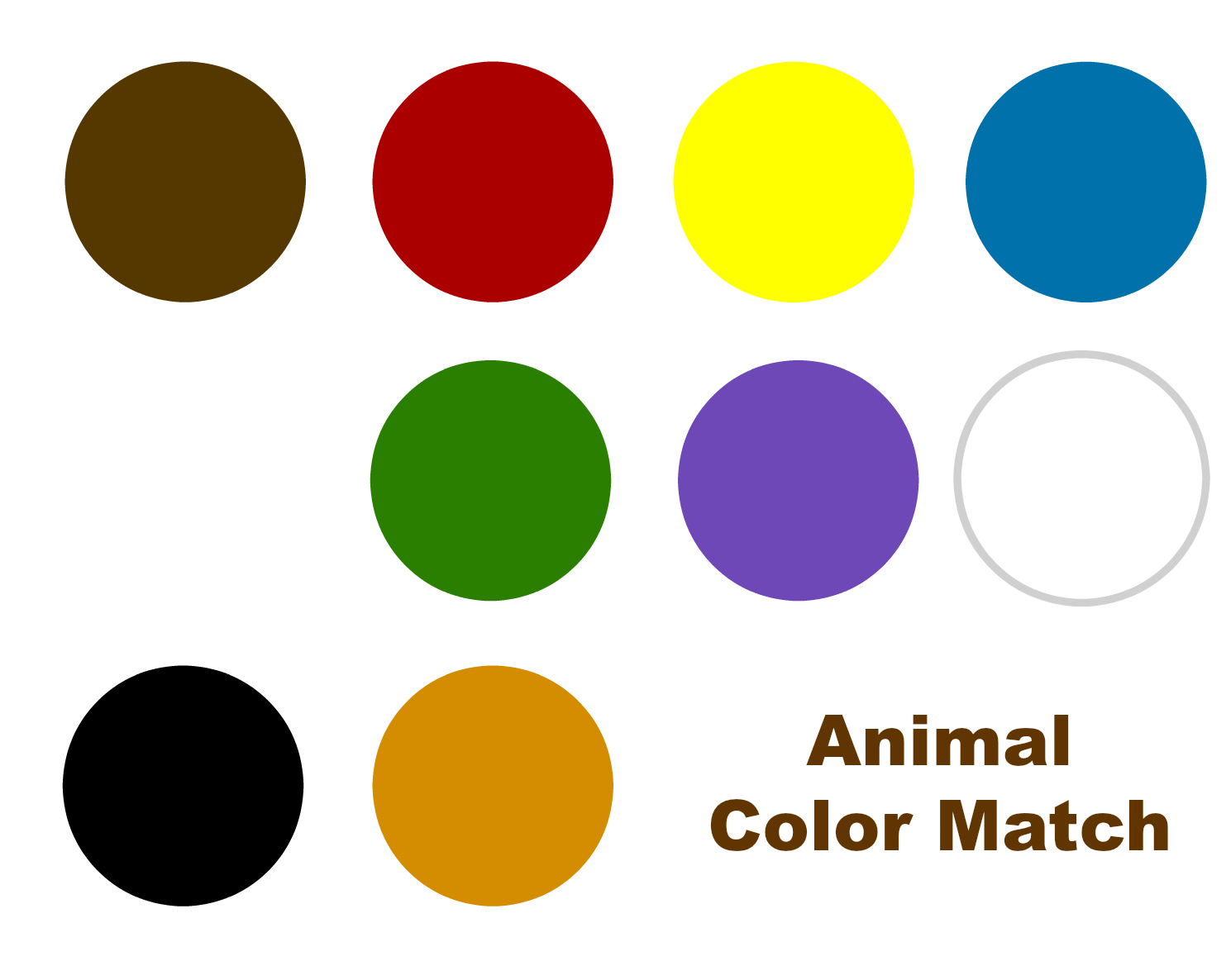 Color Match Magnet Mat For Brown Bear Brown Bear Free