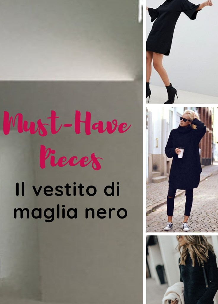 Must Have: il vestito di maglia nero