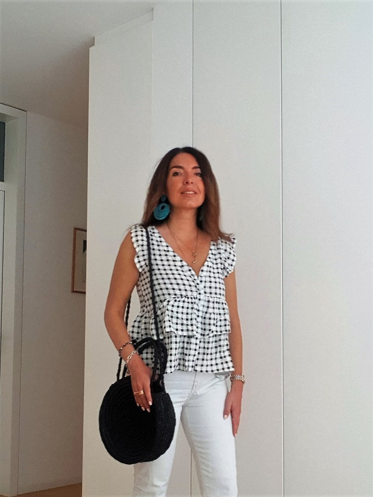 Summer Outfits: Black and White, and a Bamboo Bag