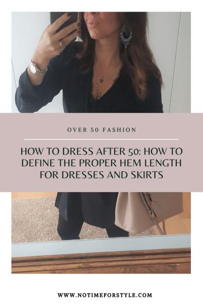 How to dress after 50 proper hem length
