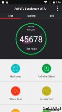 Ulefone Be Touch 2 Antutu y Test Contra Arañazos en Vídeo