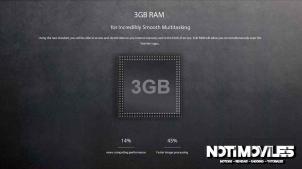 Ulefone be touch 2 tiene 3GB de Ram