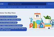 Facebook Support Center