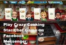 Crazy Cooking Star Chef on Facebook Messenger