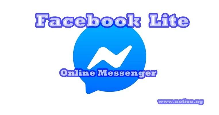 Facebook Lite Online Messenger Free Download And Install Facebook Lite Messenger App Notion Ng
