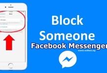blocking someone on Facebook Messenger