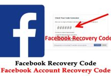 Facebook Account Recovery Code