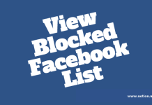 Unblock Your Blocked Facebook Friends
