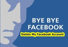 Delete My Facebook Account