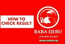 Code to Check Baba Ijebu Result