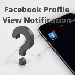 Social Profile View Notification