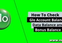 GLO Check Balance
