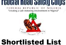 FRSC Shortlisted Candidates PDF