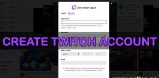 Twitch Sign up