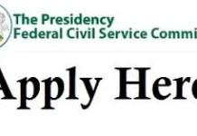 Vacancy fedcivilservice gov ng