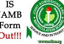 is JAMB Form on Sale