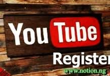 YouTube Register