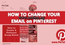 Change Your Email Address on Pinterest