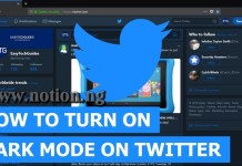 Twitter Night Mode Activation